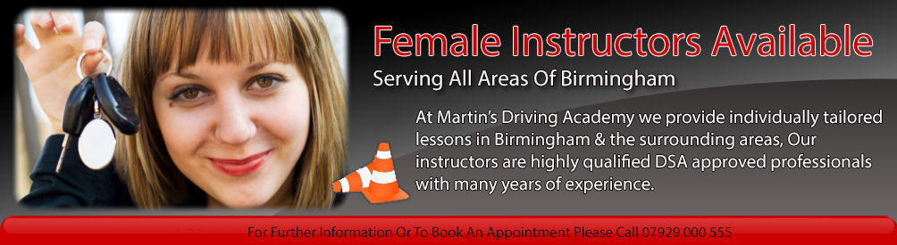 Female Instructors Available